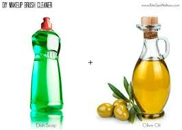 diy makeup brush cleaner olive oil dish