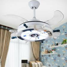 Kids Room Ceiling Fan With Anchor Led Chandelier Reversible Blades Home Decor Ebay