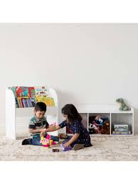 Iris Kids Storage Bench 17 18 H X 13 716 W X 39 1516 D White Office Depot