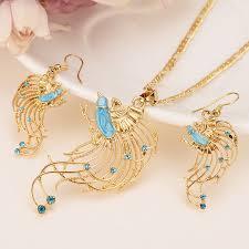 gf filigree peacock pendant necklace