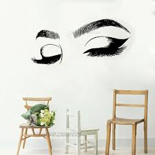 Closes Eyes Wall Decals Eyelashes Wall Stickers Make Up Girl Eyes Eyebrows Vinyl Wall Decor Beauty Salon Decoration New Lc555 T191004 House Decals House Wall Stickers From Chao10 17 04 Dhgate Com