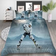ice hockey player bedding set king size