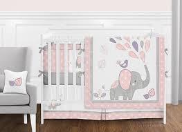 elephant safari baby girl nursery crib
