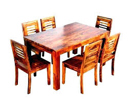wooden dining table set room furniture