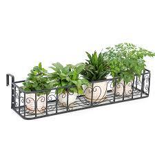 flower rack outdoor guardrail hanging
