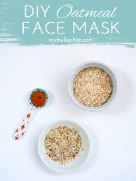 simple diy oatmeal face mask mice