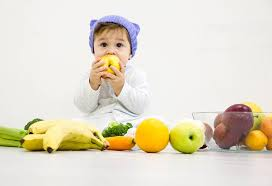 old baby food chart along with recipes