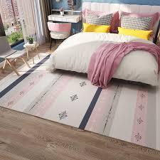 Nordic Geometric Girls Pink Carpet Bedroom Bedside Carpets Kids Room Living Room Morocco Large Area Rugs Sofa Table Home Decor Carpet Aliexpress