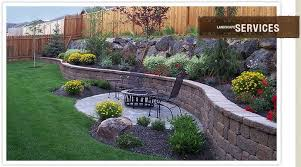 Landscaped Backyard Plants Patio Jpg Photo This Photo Was Uploaded By Diginthedirt17 Fin Sloped Backyard Small Backyard Landscaping Backyard Retaining Walls