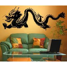 Stickerbrand Asian Decor Vinyl Wall Art Chinese Dragon Wall Decal Sticker Multiple Colors Available 21 X 55 Vinyl Wall Art Wall Decal Sticker Wall Decals