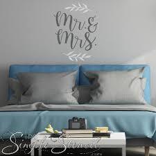 Romantic Wedding Or Master Bedroom Decor Mr Mrs Wall Decal Sticker