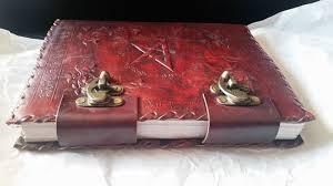 embossed pentagram leather journal book