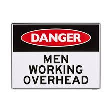 Sandleford 450 X 600mm Men Working Overhead Plastic Sign Bunnings Warehouse