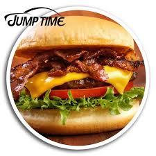 Jump Time For Bacon Cheeseburger Vinyl Stickers Fun Sticker Laptop Car Guitar Auto Bumper Motor Decal Waterproof Car Accessories Car Stickers Aliexpress
