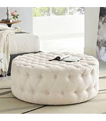 on tufted round ottoman coffee table