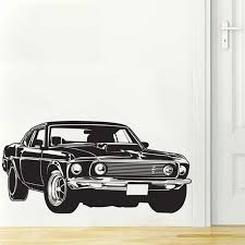 Shelby Gt Ford Mustang Muscle Racing Car Wall Decal Art Home Decor Vinyl Wall Sticker 3 Sizes Free Shipping Vinyl Wall Stickers Wall Stickercar Wall Decal Aliexpress