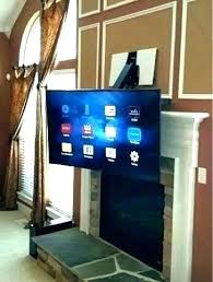 wall mount tv above fireplace