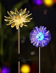 led color changing solar stake lights