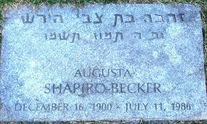 Augusta SHAPIRO BECKER (1900 - 1986)