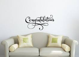 Wall Vinyl Decal Sticker Art Design Board With Inscription Congratulations Room Nice Picture Decor Hall Wall Vinyl Wall Decals Sticker Art Vinyl Decal Stickers