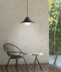 outdoor led pendant light in black