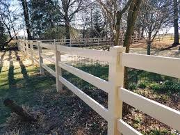 Vinyl Post Rail Fence With Wire Mesh Sunrise Valley Fence Llc Facebook