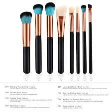 beautiful brush make up 8 set black