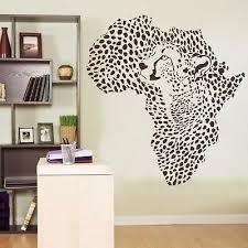 Amazon Com African Wild Animal Leopard Cheetah Wall Decal Vinyl Decor Sticker Wall Art Kitchen Dining