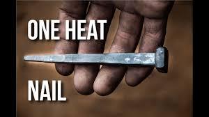 forging large nail blacksmith one