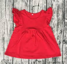 حلوى لون آخر اللباس تصاميم صور بنات الصيف ارتداء الأحمر نموذج جديد
