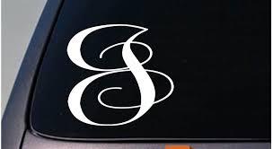 Letter J 6 Monogram Sticker Decal Truck Car Window Teach Craft Initials D781 For Sale Online