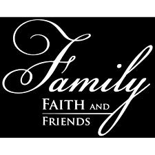 Family Faith And Friends Vinyl Decal Sticker Quote Medium White Walmart Com Walmart Com