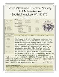 South Milwaukee Historical Society 717 Milwaukee Av South Milwaukee, Wi.  53172