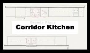 corridor kitchen modern home design
