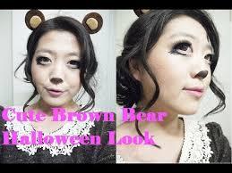 cute brown bear halloween makeup