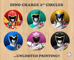 Printable 2 Power Rangers Cupcake Toppers Stickers Labels