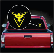 Pokemon Go Team Instinct Symbol Window Decal Sticker Custom Sticker Shop