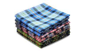 6 men handkerchief plaid 100 pure