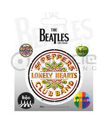 The Beatles White Vinyl Sticker Pack Oracle Trading Inc
