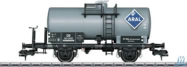 Marklin - 2-Axle Tank Car - Ready to Run - Aral 503 316 P (Era IVa, gray,  blue) - 441-58392