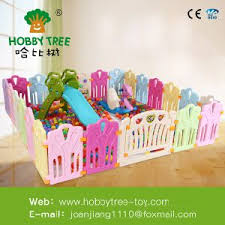 China Colorful Children Plastic Game Fence Kids Plastic Play Fence China Indoor Plastic Game Fence Baby Safety Playpen