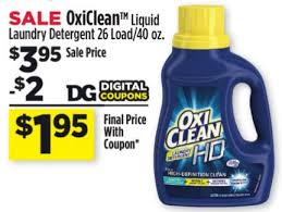 oxiclean laundry detergent 1 95 at