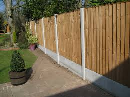 Concrete Post And Timber Panel Fencing Hodges Lawrence Ltd
