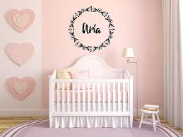 Amazon Com Vinyl Sticker Aria Girl Floral Name Font Type Kids Room Nursery Mural Decal Wall Art Decor Eh3554 Handmade