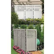 Lattice Privacy Screen Enclosure 4 Resin Fencing Panels Outdoor Trash Bin Fence Ebay