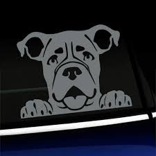 Love My Boxer Decal Window Bumper Sticker Car Decor Dog Pet Love Canine K9