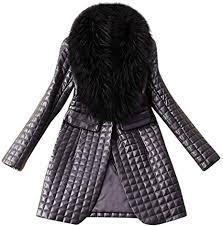 woman faux leather jacket winter