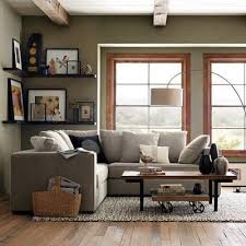 floor lamp behind corner couch curved