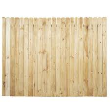 Unbranded 6 Ft H X 8 Ft W Pressure Treated Pine Dog Ear Fence Panel 0307050 The Home Depot
