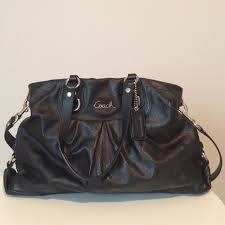 coach bags black leather bag with
